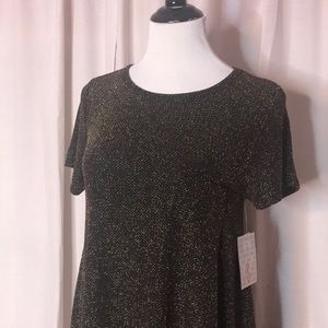 Gold and Black Sparkle Carly Dress Lularoe
